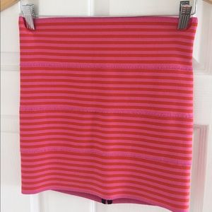 Pleasure Doing Business 5 Band Striped Miniskirt